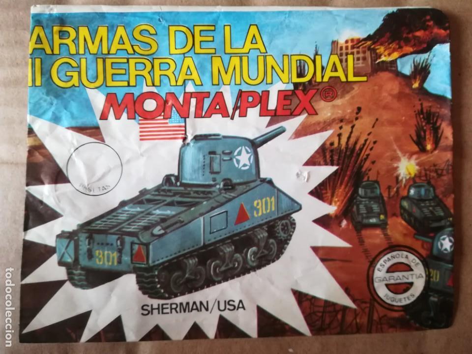 Figuras de Goma y PVC: MONTAPLEX SHERMAN - SOBRE ABIERTO CON MATRICES SIN DESTROQUELAR - Foto 2 - 149246742