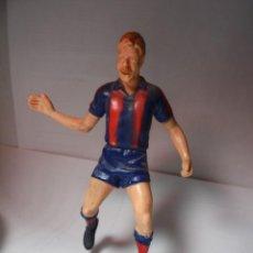 Figuras de Goma y PVC: MAGNIFICA FIGURA ANTIGUA DE MIGUELI DEL FUTBOL CLUB BARCELONA. Lote 149392994