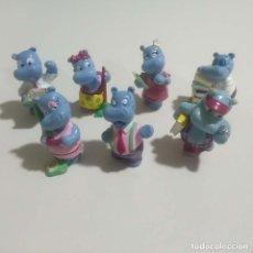Figuras Kinder: FIGURA HAPPY HIPPO HIPO ANIMAL MINIATURA KINDER MONOBLOC FERRERO HUEVO SORPRESA MUÑECO PROFESIONES. Lote 149453542