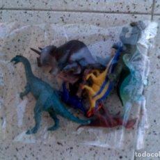 Figuras de Goma y PVC: LOTE DE DINOSAURIOS DE PLASTICO 7 DE DIFERENTES. Lote 149498918