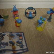 Figuras Kinder: 6 FIGURAS KINDER SORPRESA, HIPOPOTAMOS. Lote 148908390