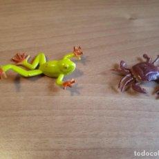 Figuras de Goma y PVC: LOTE DE UNA RANA Y UN CANGREJO DE GOMA. Lote 149710222