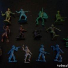 Figuras de Goma y PVC: LOTE ANTIGUOS SOLDADOS Y OTROS. Lote 149728106