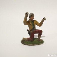 Figuras de Goma y PVC: FIGURA VAQUERO GOMA AÑOS 50. Lote 149745706