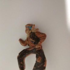 Figuras de Goma y PVC: FIGURA JINETE VAQUERO TEIXIDO GOMA. Lote 149753974