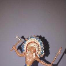 Figuras de Goma y PVC: FIGURA JEFE INDIO JECSAN. Lote 149815722