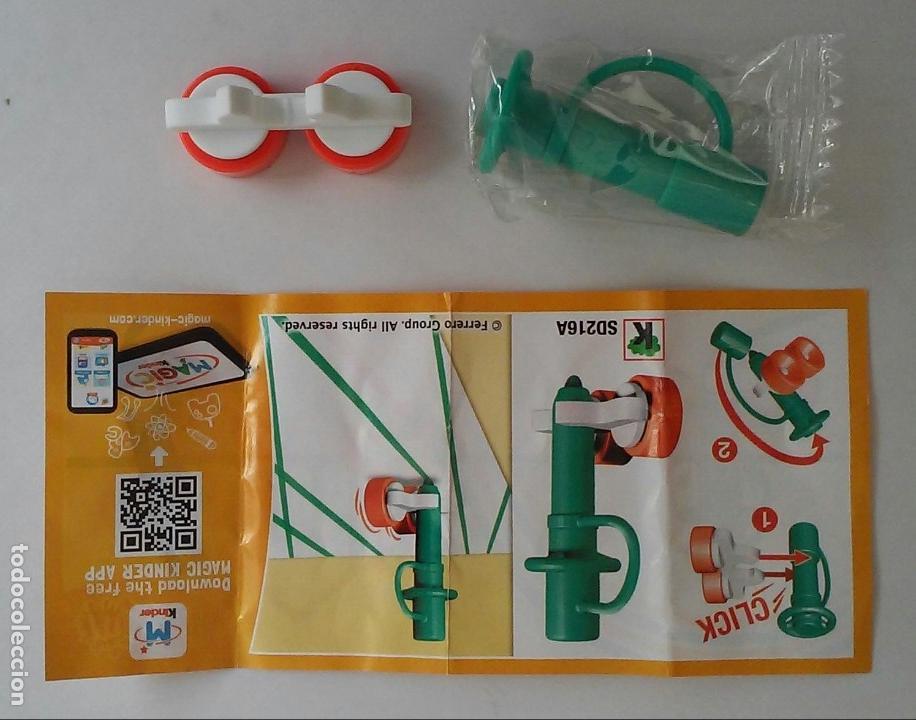 Figuras Kinder: Kinder Sorpresa Ferrero Mixart SD216A Rotulador verde con ruedas con instrucciones. - Foto 3 - 149827210