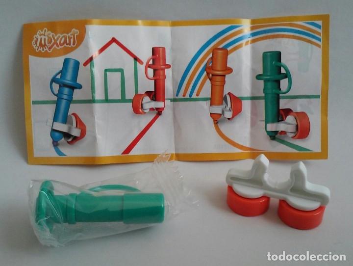 Figuras Kinder: Kinder Sorpresa Ferrero Mixart SD216A Rotulador verde con ruedas con instrucciones. - Foto 2 - 149827210
