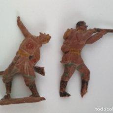 Figuras de Goma y PVC: FIGURAS RAROS SOLDADOS GOMA AÑOS 50. Lote 149892358