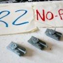 Figuras de Goma y PVC: LOTE 3 TANQUE MONTAPLEX GRISES. Lote 149935509