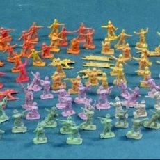 Figuras de Goma y PVC: 134 SOLDADOS MONTAPLEX MONTA PLEX VARIOS EJÉRCITOS AÑOS 70. Lote 149964522
