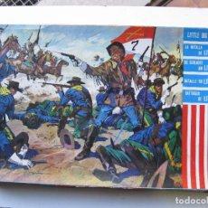 Figuras de Goma y PVC: CAJA GRANDES BATALLAS DEL MUNDO - LA BATALLA DE LITTLE BIG HORN - ROJAS Y MALARET. Lote 149984398