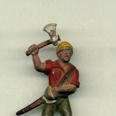 Figuras de Goma y PVC: PIRATA CON HACHA Y SABLE. Lote 150032286