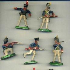 Figuras de Goma y PVC: 7 SOLDADOS NAPOLEÓNICOS / A UNO LE FALTA EL CABALLO. Lote 150034574