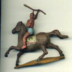 Figuras de Goma y PVC: INDIO A CABALLO DE GAMA / GOMA AÑOS 50. Lote 150036702