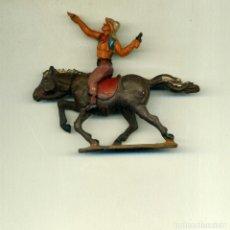 Figuras de Goma y PVC: VAQUERO JINETE Y CABALLO / GAM. Lote 150118042