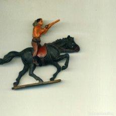 Figuras de Goma y PVC: VAQUERO JINETE Y CABALLO / GAMA. Lote 150118558
