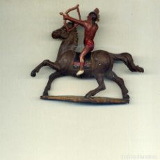 Figuras de Goma y PVC: INDIO JINETE Y CABALLO / GAMA. Lote 150119066
