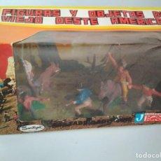 Figuras de Goma y PVC: CAJA Y FIGURAS JECSAN ORIGINAL. Lote 150148838