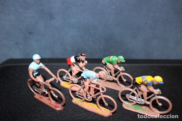 5 CICLISTAS PVC AÑOS 60. SOTORRES (Juguetes - Figuras de Goma y Pvc - Sotorres)