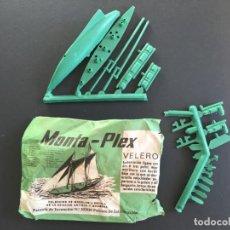 Figuras de Goma y PVC: MONTAPLEX - SOBRE PEQUEÑO - VELERO COLECCIÓN MODELOS A ESCALA AVIACIÓN ANTIGUA Y MODERNA _LEY394. Lote 150161138