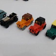 Figuras Kinder: LOTE 5 COCHES PLASTICO KINDER HUEVO SORPRESA FINALES 80 Y 90 VARIADOS. Lote 150162142