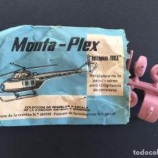 Figuras de Goma y PVC: MONTAPLEX - SOBRES PEQUEÑOS - HELICÓPTERO FURIA CON MOTO VESPA - AÑOS 60 70 _ LEY400. Lote 150162254