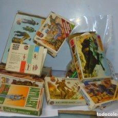 Figuras de Goma y PVC: GRAN LOTE MUÑECOS. AIRFIX, ESCI, HASEGAWA, MATCHBOX, ITALERI Y MAS. CAJAS ORIGINALES. LEER. VER. Lote 150194322