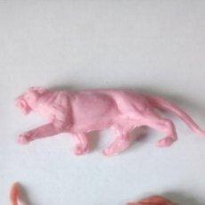 Figuras de Goma y PVC: LOTE DE 2 FIGURAS JECSAN. COLECCIÓN FAUNA. MONOCOLOR.. Lote 150196541