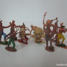 Figuras de Goma y PVC: LOTE DE 11 FIGURAS, INDIOS - REAMSA, JECSAN, COMANSI - AÑOS 60. Lote 150216838
