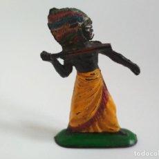 Figuras de Goma y PVC: FIGURA NEGRO KAKUANA PECH GOMA. Lote 150248026