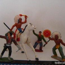 Figuras de Goma y PVC: COW-BOYS SOTORRES-GOMA. Lote 150354742