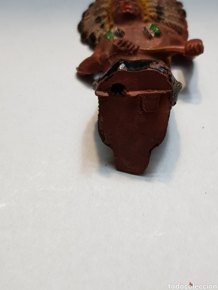 Figuras de Goma y PVC: Figura Jefe Indio de Pech escasa - Foto 3 - 150392892