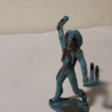 Figuras de Goma y PVC: FIGURA PLASTICO VAQUERO PELEANDO. Lote 150403005