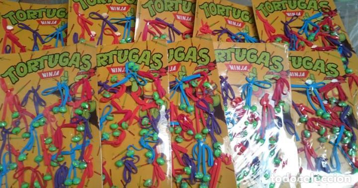 Figuras de Goma y PVC: TORTUGAS NINJA LOTE 10 EXPOSITORES DE CORDONES PARA ZAPATOS VINTAGE 1988 - Foto 5 - 183203553