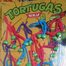 Figuras de Goma y PVC: TORTUGAS NINJA EXPOSITOR DE CORDONES PARA ZAPATOS VINTAGE 1988. Lote 253234560