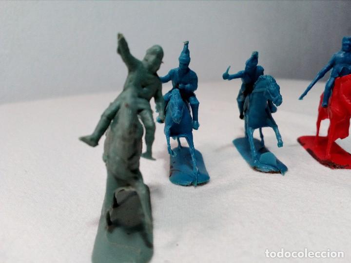 Figuras de Goma y PVC: BARATIJA DE KIOSKO (LOTE CABALLOS CON JINETE) SOLDADOS PLÁSTICO AÑOS 70/80 - Foto 4 - 150467254