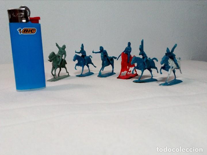Figuras de Goma y PVC: BARATIJA DE KIOSKO (LOTE CABALLOS CON JINETE) SOLDADOS PLÁSTICO AÑOS 70/80 - Foto 8 - 150467254