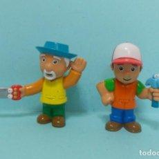 Figuras de Goma y PVC: MANNY MANITAS Y ABUELITO (HANDY MANNY). Lote 150547754