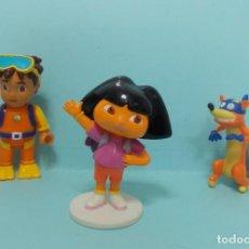Figuras de Goma y PVC: DORA LA EXPLORADORA - CON DIEGO Y SWIPPER. Lote 150550702
