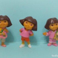 Figuras de Goma y PVC: DORA LA EXPLORADORA - TRES FIGURAS DE COLECCION. Lote 150550742