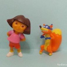 Figuras de Goma y PVC: DORA LA EXPLORADORA - CON SWIPPER. Lote 150550758