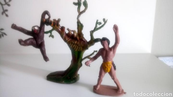 TARZAN Y CHITA DE M. SOTORRES. (Juguetes - Figuras de Goma y Pvc - Sotorres)