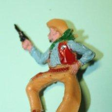 Figuras de Goma y PVC: FIGURA DEL OESTE. MARCA LAFREDO. VAQUERO. COW-BOY. JINETE. AÑOS 60. ESPAÑA. 6 CM ALTO.. Lote 150644642