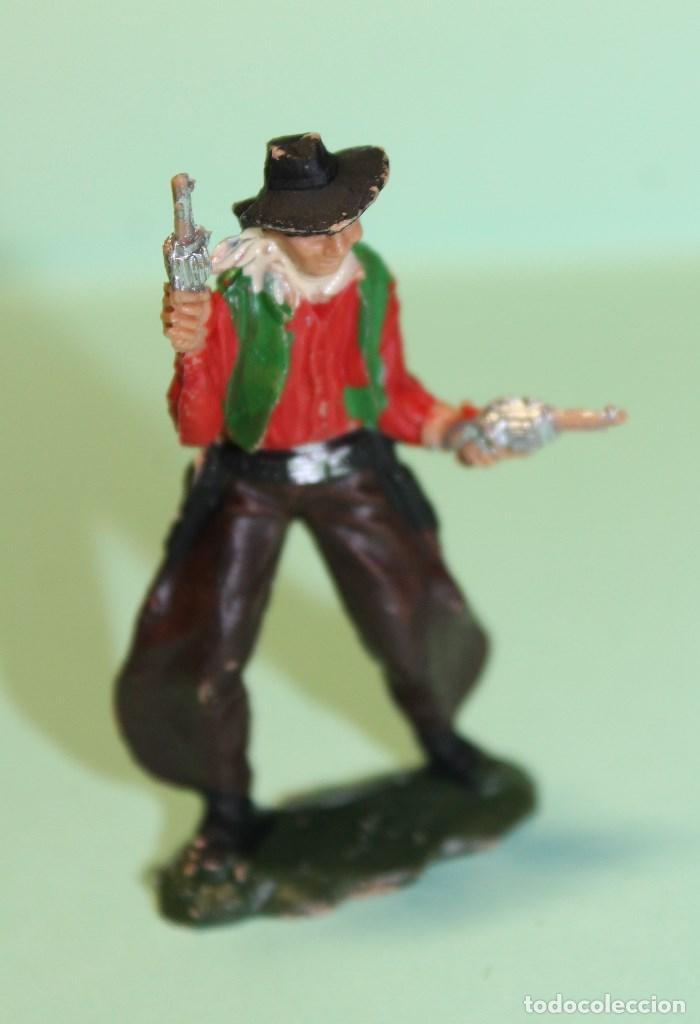 Figuras de Goma y PVC: FIGURA DEL OESTE. MARCA REAMSA. VAQUERO. COW-BOY. AÑOS 60. ESPAÑA. 6 cm alto. - Foto 2 - 150645662