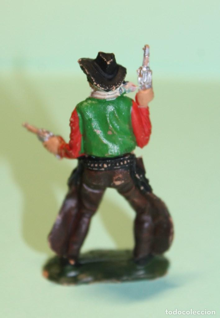 Figuras de Goma y PVC: FIGURA DEL OESTE. MARCA REAMSA. VAQUERO. COW-BOY. AÑOS 60. ESPAÑA. 6 cm alto. - Foto 3 - 150645662