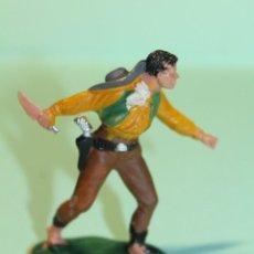 Figuras de Goma y PVC: FIGURA DEL OESTE. MARCA REAMSA. VAQUERO. COW-BOY. AÑOS 60. ESPAÑA. 6 CM ALTO.. Lote 150645738