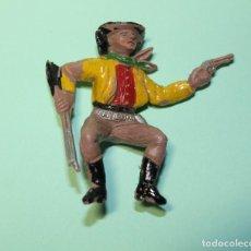Figuras de Goma y PVC: FIGURA DEL OESTE. MARCA COMANSI. VAQUERO COW-BOY. AÑOS 60. JINETE. 6 CM DE ALTO.. Lote 150649042
