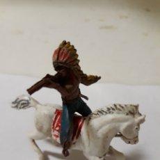 Figuras de Goma y PVC: PECH FIGURA INDIO A CABALLO. Lote 150657238
