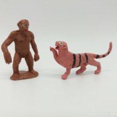 Figuras de Goma y PVC: TIGRE Y GORILA DEL CIRCO DIR Y DOR DE JECSAN, EN PERFECTO ESTADO, TAL COMO SE VEN EN LAS FOTOS. Lote 150803250